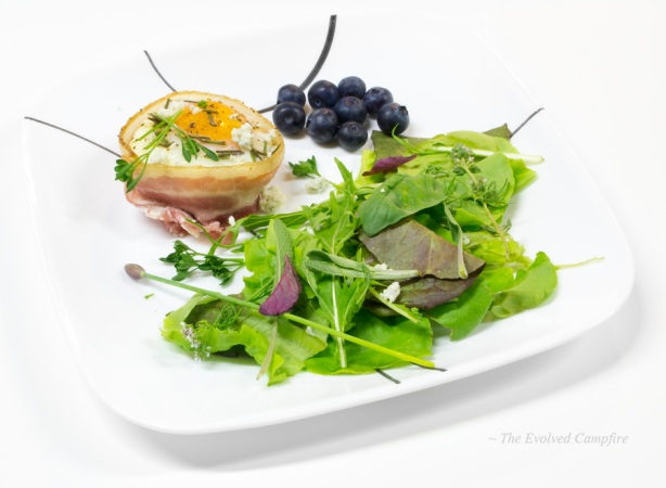 Egg in a Bacon Basket Dinner Plate Paleo
